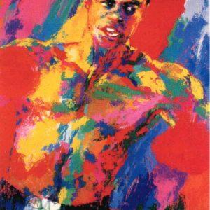 "Muhammad Ali, Print By Leroy Neiman 39"" x 34"""