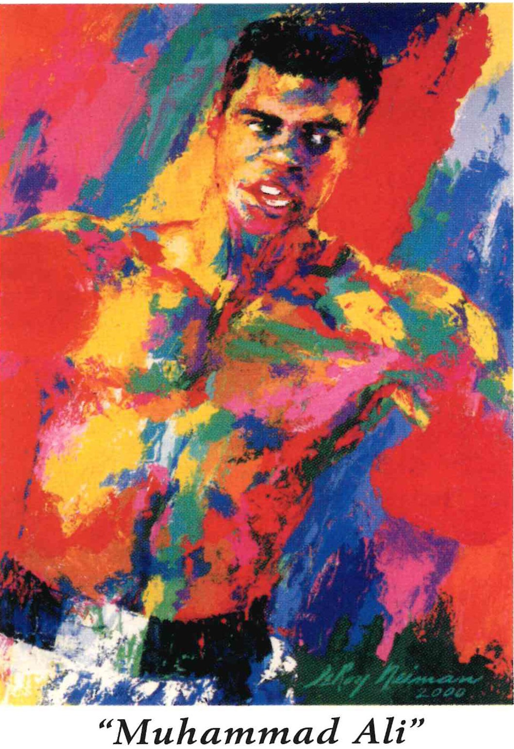 DBG1005 – Mohammad Ali By Leroy Neiman 24×28 Serigraph numbered 645 – year 2001