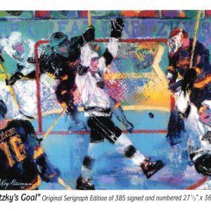 """Gretzky's Goal, Print By Leroy Neiman 34.5"""" x 42.5"""""""