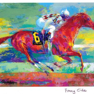 """Funny Cide, Print By Leroy Neiman 29"""" x 40"""""""