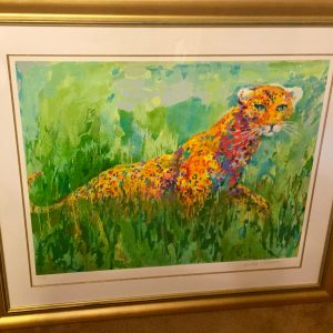 Prowling Leopard, Serigraph By Leroy Neiman 26.75x35