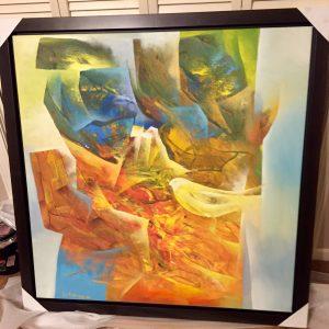 Genesis VII, Original Oil By Edourd Grossman 39x39