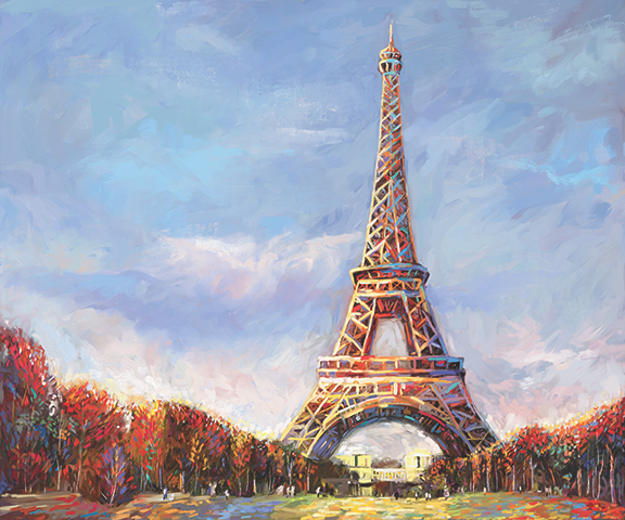 DML1001 – Eiffel_tower_XXXII – Redina Tili 20×24 2017