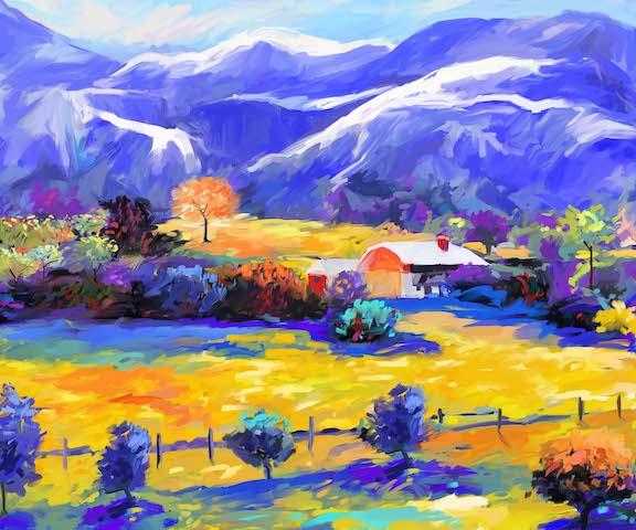 DML1003 – Blue Mountain ver XIX – 2017 – Redina Tili 20×24
