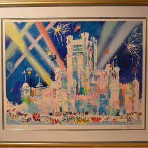 Ice Castle, Lithograph By Leroy Neiman 28.75×38.25