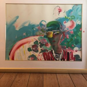 French Zero Girl Friend , Lithograph By Peter Max 26x35