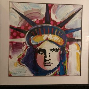 Liberty 2000 III, Lithograph By Peter Max 24x33