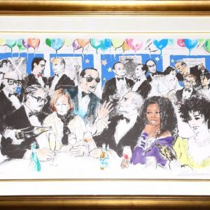 Celebrity Night at Spago, Serigraph By Leroy Neiman 28.5x40.25