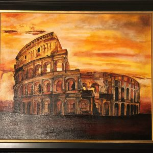"Coliseum of Rome, Original Oil By Catherine Colosimo 20""x24"""