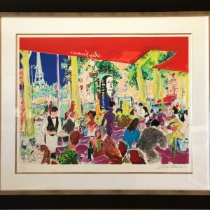 "Chez Francis, Seirograph By Leroy Neiman 28.25""x34"""
