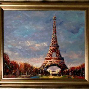 "Eiffel Tower - XXX, Original OilBy Redina Tili 20""x24"""
