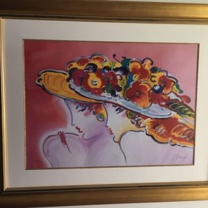 """Friends by Peter Max - Lithograph 19""""x26 1/2"""" original 2003"""