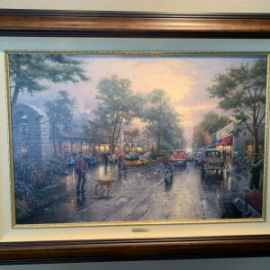 "Carmel Sunset on Ocean Avenue by Thomas Kinkade - Canvas 24""x36"" Original 1999"