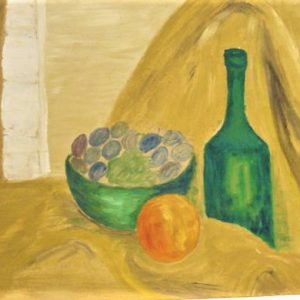 """Grapes With Wine by Viola Smith - Oil/Canvas 24""""x18"""" Original 1970"""