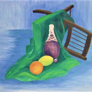 "Fallen Chair by Viola Smith - Oil/Canvas 24""x18"" Original 1968"
