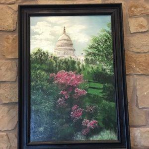 "Dome Over Azaleas  by Linda Kinney - Oil 36""x24"" Original 2010"
