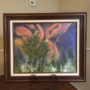 "Flames Over Ruidoso by Linda Kinney - Oil 16""x20"" Original 2010"