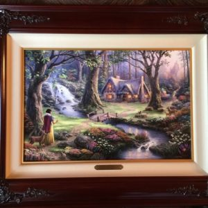 "Snow White Discovers The Cottage by Thomas Kinkade- Canvas 12""x 18"