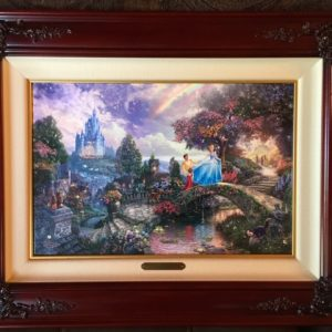 """Cinderella Wishes Upon A Dream by Thomas Kinkade- Canvas 12"""" x18"""