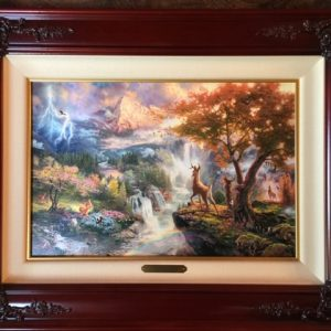 "Bambi's First Year by Thomas Kinkade- Canvas 12"" x 18"""