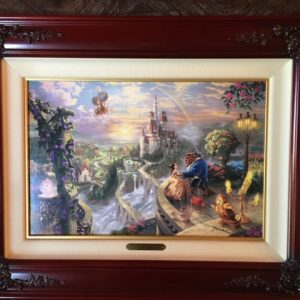 "Beauty and The Beast Fall in Love by Thomas Kinkade- Canvas 12"" x 18"""