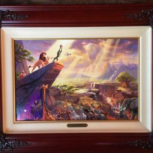 """The Lion King by Thomas Kinkade- Canvas 12"""" x 18"""""""