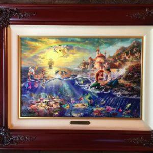 "The Little Mermaid by Thomas Kinkade- Canvas 12""x 18"""