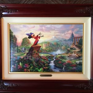 "Fantasia by Thomas Kinkade- Canvas 12""x18"""