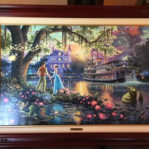 Princess and the Frog by Thomas Kinkade- Canvas 24x36