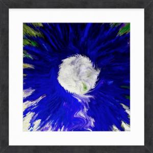 Blue Daisy Pop by Louise Mastromarino 32 x 32