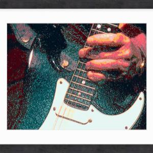 Green Guitarist by Louise Mastromarino 38 x 31