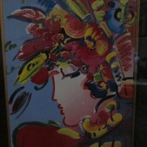 Blushing Beauty by Peter Max 27 3/4 x22
