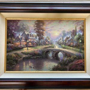 "Sunset on Lamplight Lane by Thomas Kinkade 37.7""x28.5"""