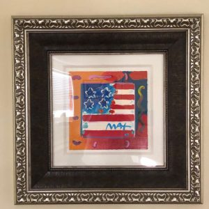 Peter Max: Flag with Heart