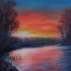 Quiet Evening in Rat River 36x48 Inches